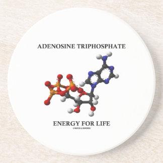 Adenosine Triphosphate (ATP) Energy For Life Drink Coaster