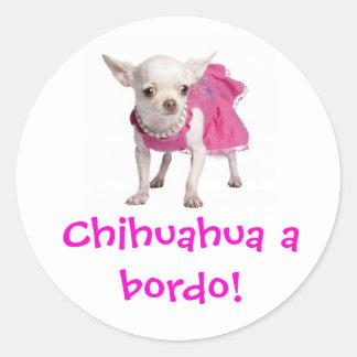 Adesivo - Chihuahua a bordo! Classic Round Sticker