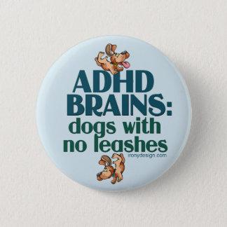 ADHD BRAINS (blue) 2 Inch Round Button