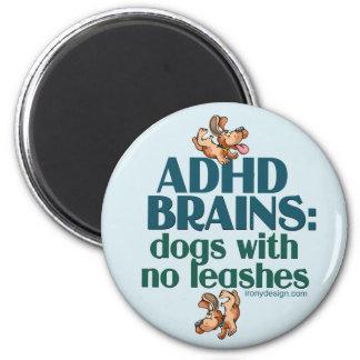 ADHD BRAINS REFRIGERATOR MAGNET