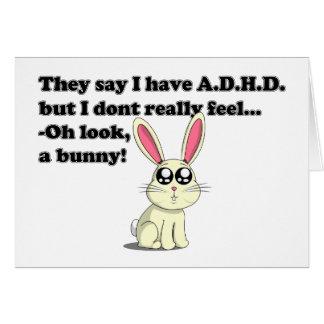 ADHD bunny Card