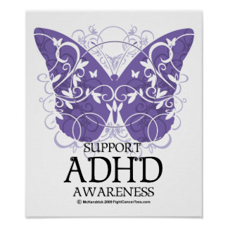 ADHD Butterfly Poster
