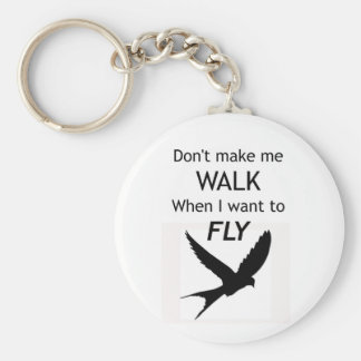 ADHD Keyring -  I want to FLY Motivational Inspira