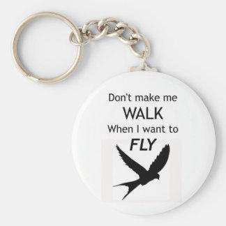 ADHD Keyring -  I want to FLY Motivational Inspira Basic Round Button Keychain