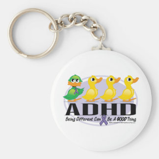 ADHD Ugly Duckling Basic Round Button Keychain