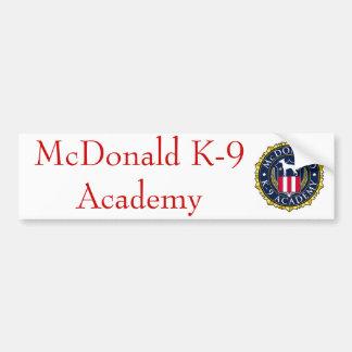 Adhésif pour pare-chocs 01 d'académie de McDonald  Autocollant De Voiture