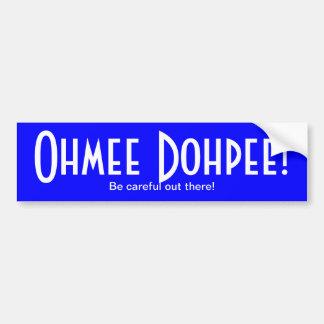 Adhésif pour pare-chocs bleu brillant d'Ohmee Dohp Autocollant De Voiture