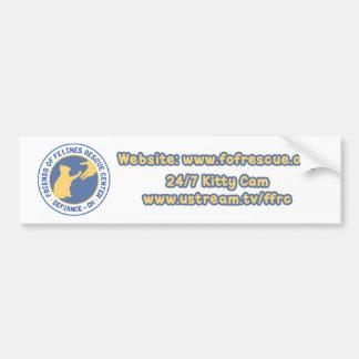 Adhésif pour pare-chocs bleu/jaune de logo autocollant de voiture