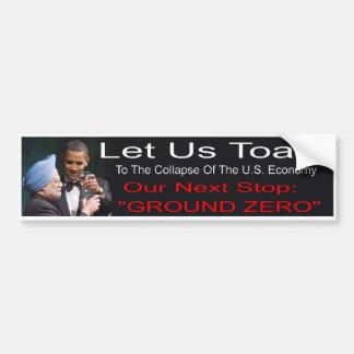Adhésif pour pare-chocs d'Anti-Obama Autocollant De Voiture