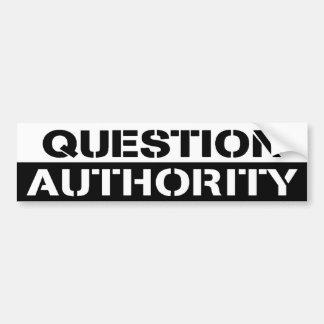 ADHÉSIF POUR PARE-CHOCS D'AUTORITÉ DE QUESTION AUTOCOLLANT DE VOITURE