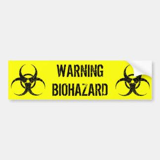 Adhésif pour pare-chocs d'avertissement de Biohaza Autocollant De Voiture