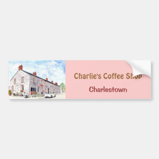 """Adhésif pour pare-chocs """"de café-restaurant de Cha Autocollant De Voiture"""