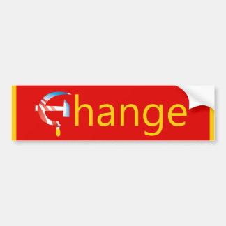 Adhésif pour pare-chocs de changement d'Obama Autocollant De Voiture