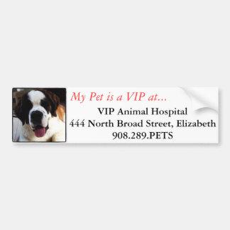 Adhésif pour pare-chocs de clinique vétérinaire de autocollant de voiture