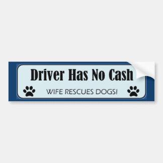 Adhésif pour pare-chocs de délivrance de chien autocollant de voiture