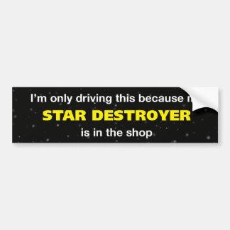 Adhésif pour pare-chocs de destroyer d'étoile autocollant de voiture