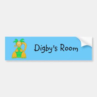 Adhésif pour pare-chocs de Digby Dino Autocollant De Voiture