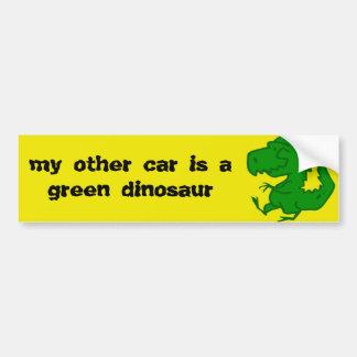 adhésif pour pare-chocs de dinosaure vert autocollant de voiture
