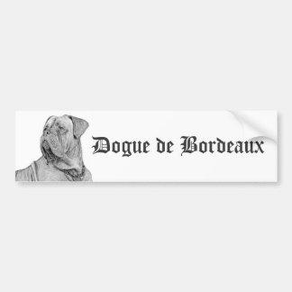 Adhésif pour pare-chocs de Dogue de Bordeaux Autocollant De Voiture