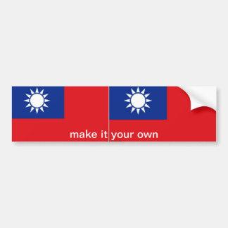 Adhésif pour pare-chocs de drapeau de Taïwan Adhésif Pour Voiture