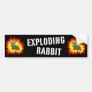 Adhésif pour pare-chocs de explosion de lapin autocollant de voiture