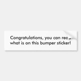 Adhésif pour pare-chocs de félicitations autocollant de voiture