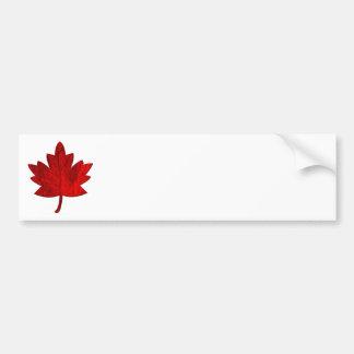 Adhésif pour pare-chocs de feuille de Canada-Érabl Autocollant De Voiture