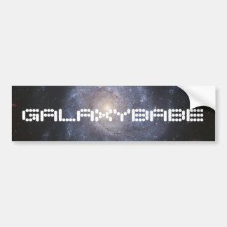 Adhésif pour pare-chocs de galaxie avec le texte f autocollant de voiture