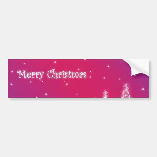 Adhésif pour pare-chocs de Joyeux Noël Autocollants Pour Voiture