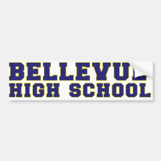 Adhésif pour pare-chocs de lycée de Bellevue Autocollant Pour Voiture