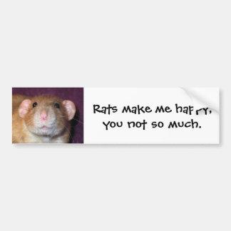 Adhésif pour pare-chocs de rat d'abruti autocollant de voiture