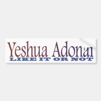Adhésif pour pare-chocs de Yeshua Adonai Autocollants Pour Voiture