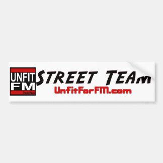 Adhésif pour pare-chocs d'équipe de rue adhésif pour voiture