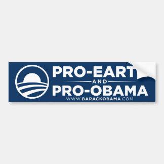 Adhésif pour pare-chocs d'Obama de la Pro-Terre Autocollant De Voiture