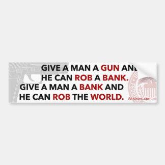 """Adhésif pour pare-chocs """"donnez à un homme arme à  autocollant de voiture"""