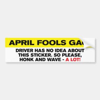 Adhésif pour pare-chocs du bâillon d'imbécile autocollant de voiture