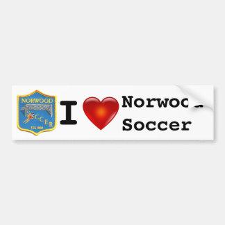 Adhésif pour pare-chocs du football de Norwood Autocollant De Voiture