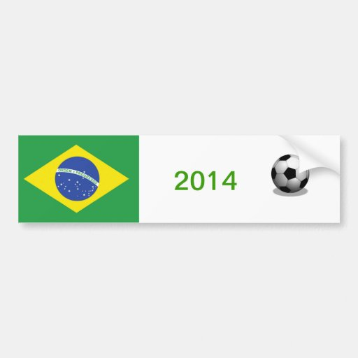 Adhésif pour pare-chocs du football du Brésil Adhésif Pour Voiture