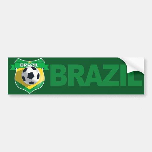 Adhésif pour pare-chocs du football du Brésil d'éq Autocollants Pour Voiture