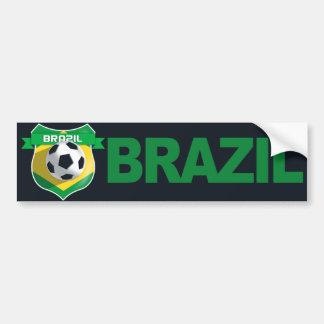Adhésif pour pare-chocs du football du Brésil d'éq Adhésif Pour Voiture