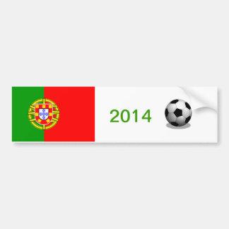 Adhésif pour pare-chocs du football du Portugal Adhésifs Pour Voiture
