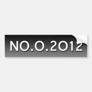 Adhésif pour pare-chocs NO.O.2012 Autocollant De Voiture