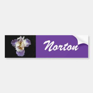 Adhésif pour pare-chocs pourpre d'iris de Norton Autocollant De Voiture