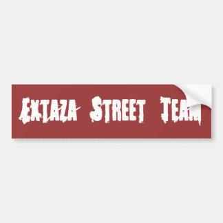 Adhésif pour pare-chocs rouge d'équipe de rue d'Ex Autocollant Pour Voiture