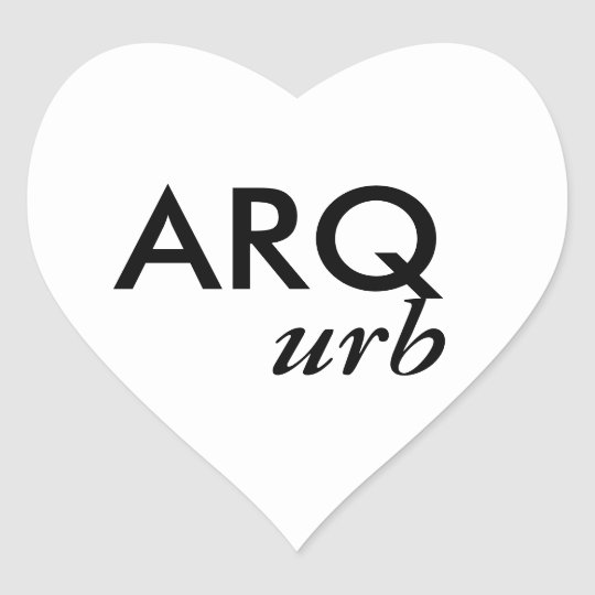 Adhesive ARQ Heart Sticker