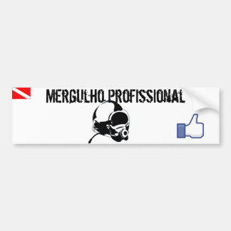 Adhesive car I enjoy professional diving Bumper Sticker