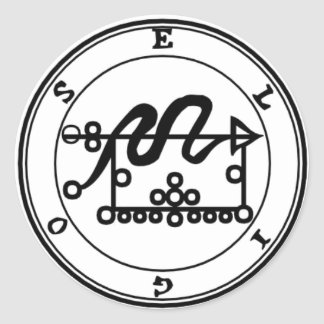 Adhesive Eligos Goétia Classic Round Sticker