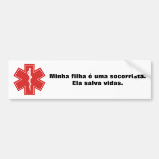 Adhesive for car of mother of rescue bumper sticker