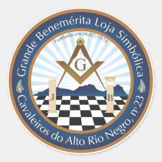 Adhesive Freemason CARN Classic Round Sticker