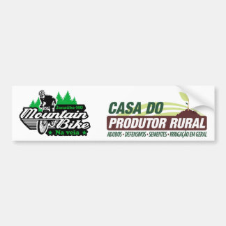 Adhesive House of the producer and mountain bike Bumper Sticker